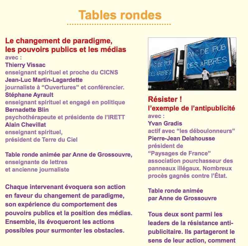 """Les différents intervenants à la table ronde """"Changement de paradigme, pouvoirs publivs et médias""""."""