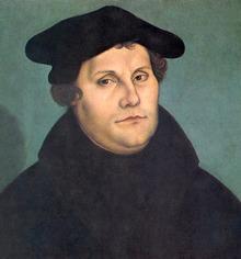 Martin Luther en 1533 par Lucas Cranach l'Ancien.