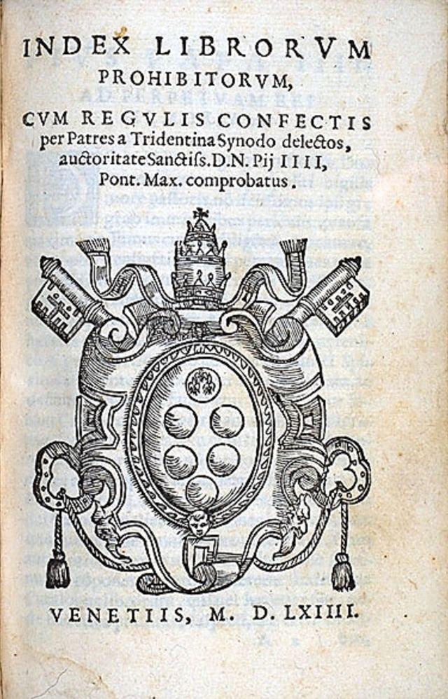 L'Index des livres interdits par l'église catholique ne cessa d'être une liste officielle qu'en 1966 !