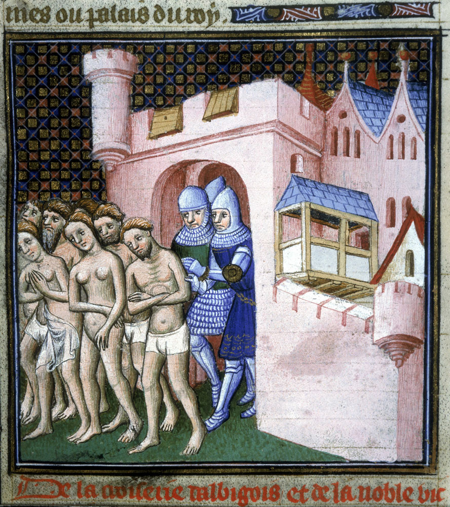 Carcassonne : expulsion d'Albigeois opposés au pouvoir des prêtres catholiques.