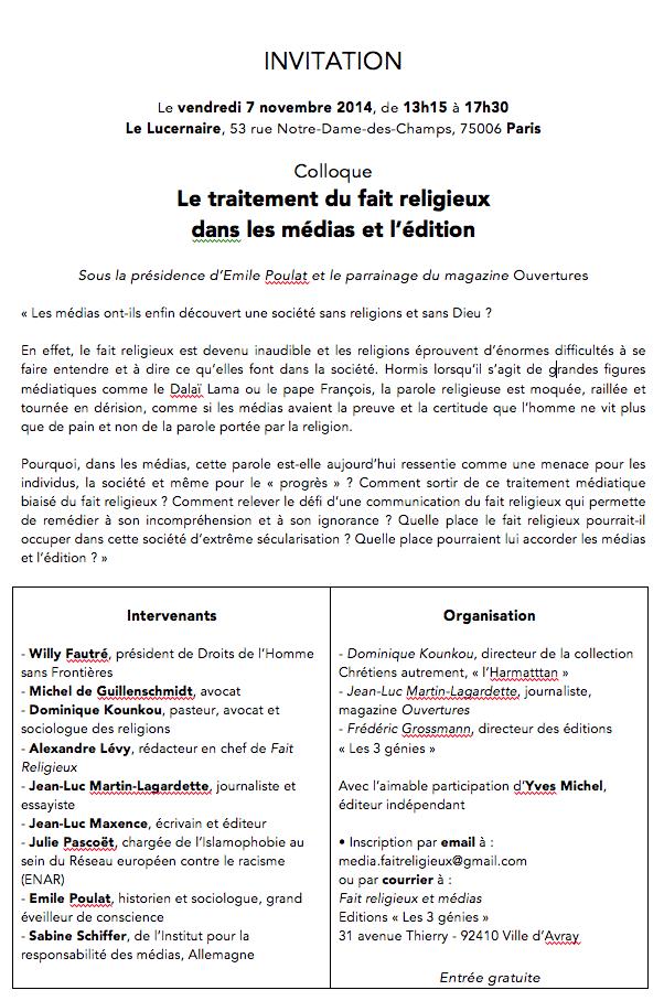 Colloq médias religions