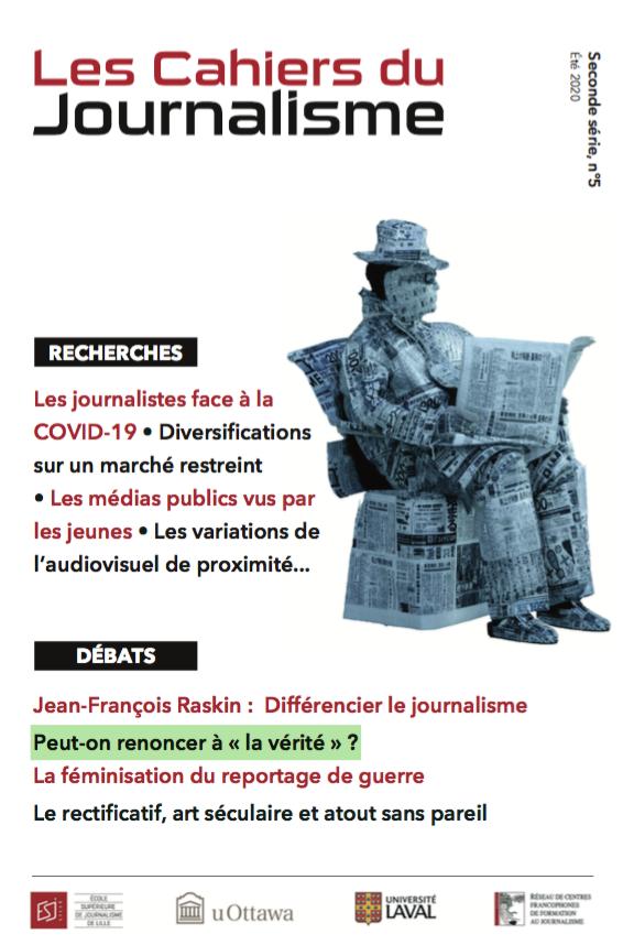 Un article des « Cahiers du journalisme » propose une ...